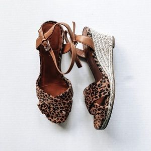 Cole Haan leopard wedges